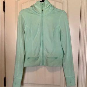 Lululemon sea foam green crop jacket
